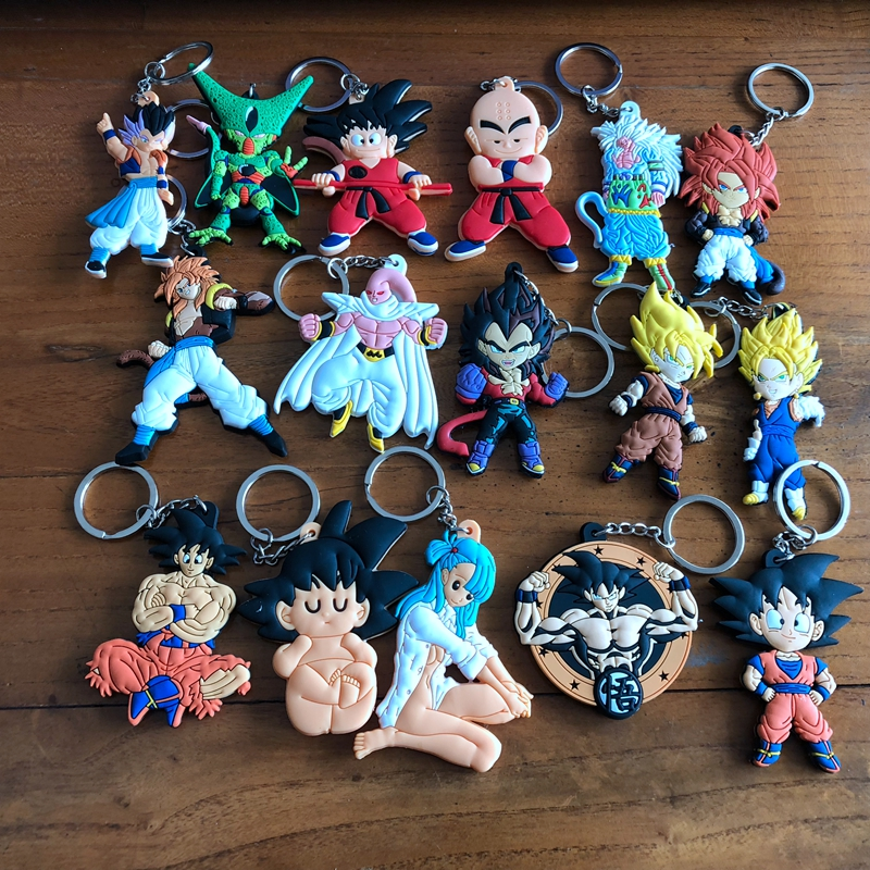 Dragon Ball Z Son Goku Super PVC Parts Figure Cute Pendant Ornament Decoration Unisex Bag Chain Pendants Key Chain Key Ring