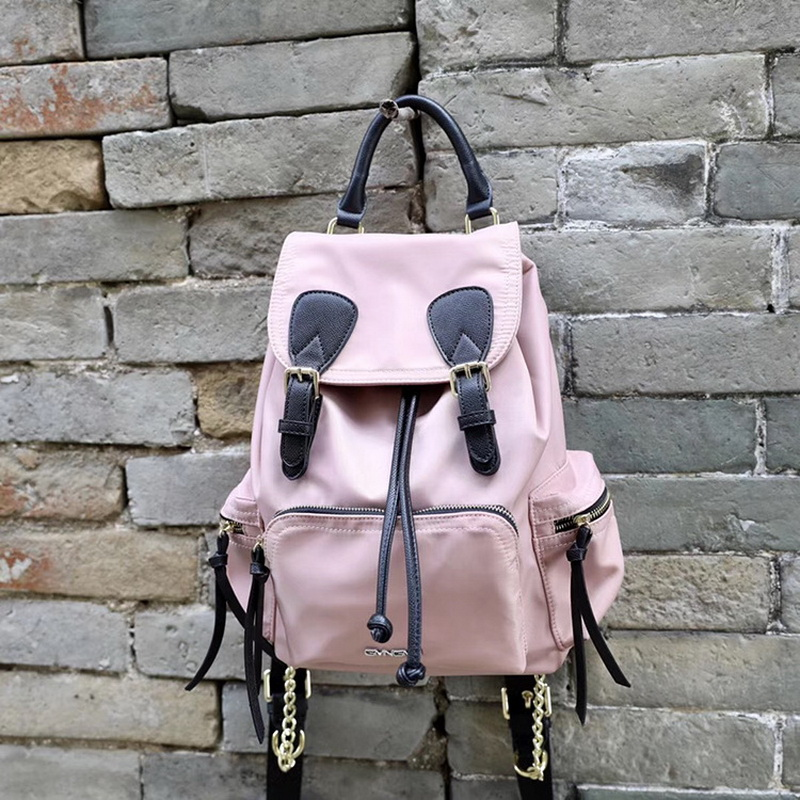 Korea Style Women Leather Backpack School Wind Girls Fashion School Bag with Chains Lady Holiday Travel Bag Softback Rucksack women pu leather backpack mansur lady leather backpack girl leather school bag free shipping fashion girls bag