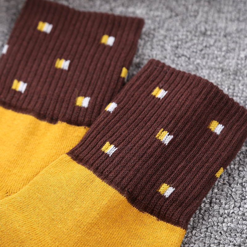 5 Pairslot Autumn Happy Socks Men Winter Fashionable Mens Warm Winter Socks Soft Striped Office Dress Socks Long Thick