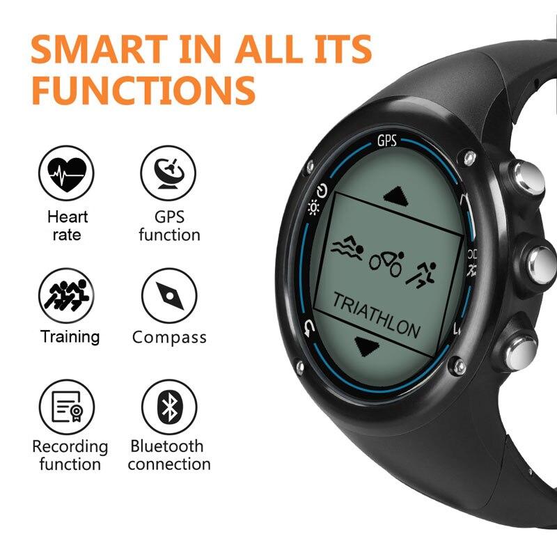 Reloj Digital SUNROAD inteligente GPS para hombre con frecuencia cardíaca con 50 m de carga USB resistente al agua corriendo senderismo jogging reloj de pulsera - 3