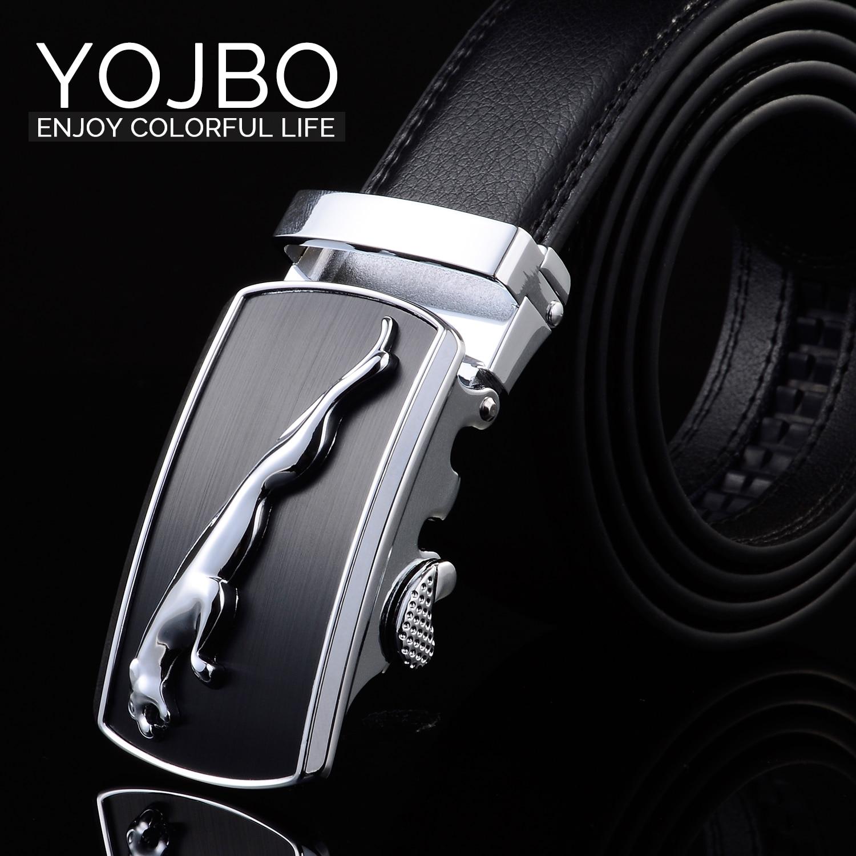 YOJBO Genuine Leather Belt Mens