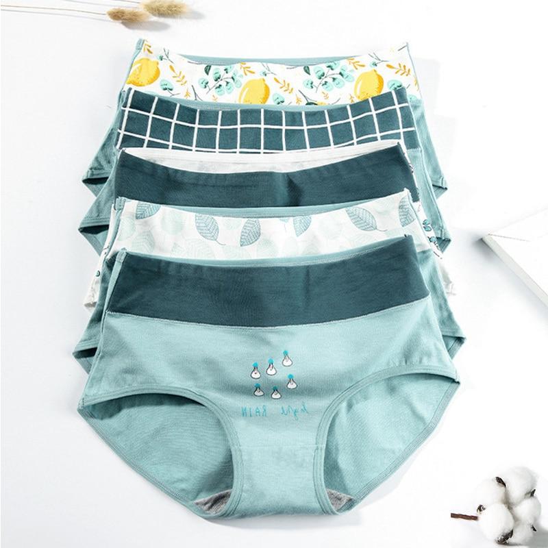 Women's panties cotton plus size underwear female casual lingerie mango briefs ladies high rise underpants girl panty