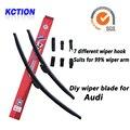Car windshield wiper blade para audi a1, A3, A4, A6, A7, A8, Q3, Q5, Q7, S8, escova, Bracketless Limpa, Acessórios do carro