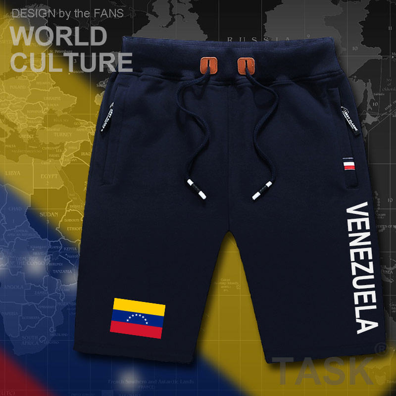 Venezuela Venezuelan Mens Shorts Beach Man Men's Board Shorts Flag Workout Zipper Pocket Sweat Bodybuilding 2017 Cotton  VEN VE