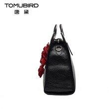 2017 New women genuine leather bag famous brands luxury head layer cowhide handmade stereo flowers women leather handbags