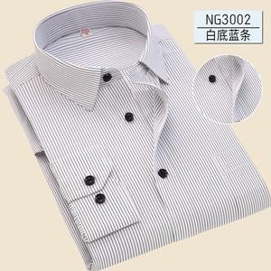Image 4 - 2019 Повседневная однотонная приталенная мужская деловая рубашка с длинными рукавами, Мужская классическая рубашка, Мужская классическая рубашка, мужская рубашка