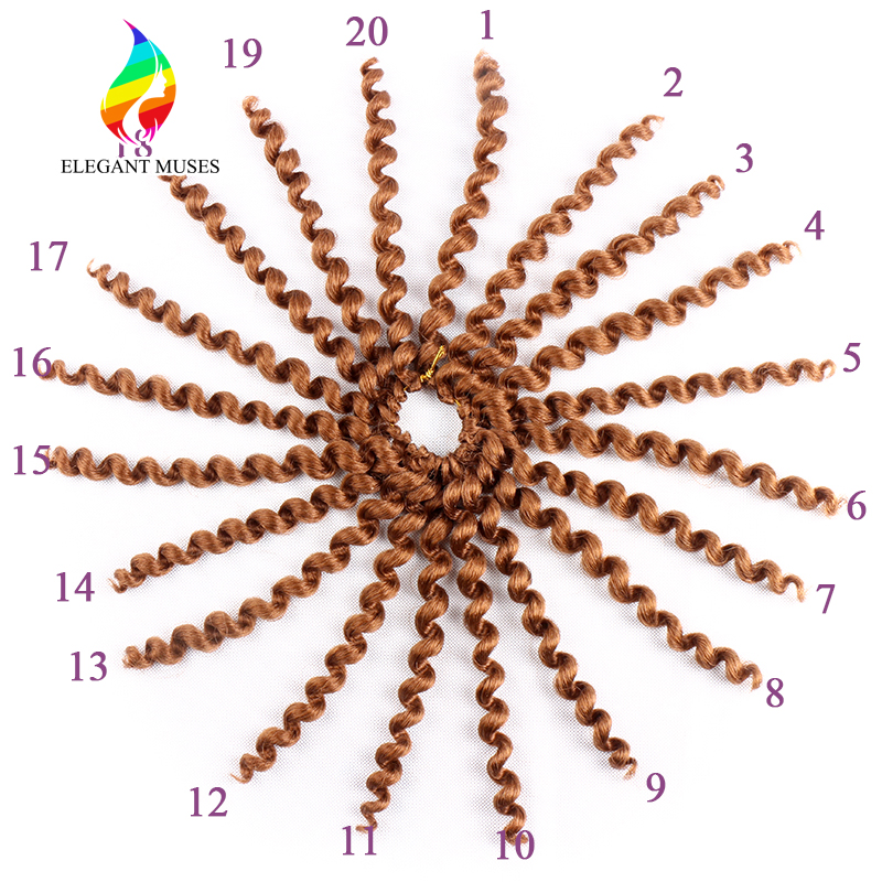Bling Hair Wand Curl 10 Inches Crochet Braids Hair Synthetic Twist Braids Hair Extensions Jumpy Kanekalon Crochet Braids