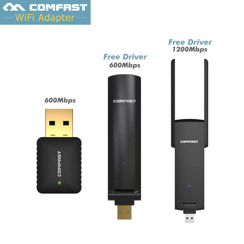 COMFAST usb wireless adapter 600mbps,1200mbps usb wifi adapter 802.11ac/b/g/n 2.4Ghz + 5Ghz Dual Band wi-fi dongle Network Card