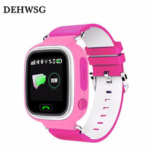 DEHWSG GPS Smart baby watch Q90 Touch Screen WIFI Positioning Smart Watch SOS Call Location Finder Device Anti Lost For Children(China)