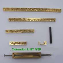 Flexible Brass Letters CNC Engraving Mold Number for Hot Foil Stamping Machine