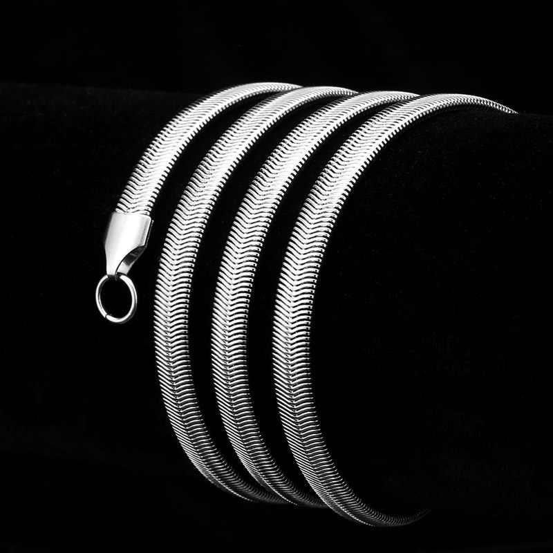 Beier 3/4/5/6 Millimetri di Larghezza in Acciaio Inox Catena Del Serpente Collana in Argento di Colore per Il Ragazzo E ragazza di Alta Qualità BN1003