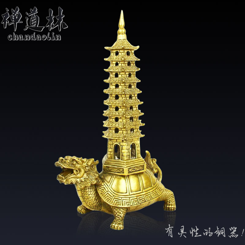 Zen light tower of Wenchang dragon back Dowling copper ornaments and academic career office feng shui decoration craftsZen light tower of Wenchang dragon back Dowling copper ornaments and academic career office feng shui decoration crafts