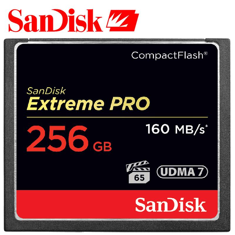 Prix pour SanDisk Extreme Pro Compactflash Carte Mémoire CF 64 GB 32 GB 128 GB 256 GB jusqu'à 160 MB/s Vitesse de Lecture pour riche 4 K et Full HD vidéo