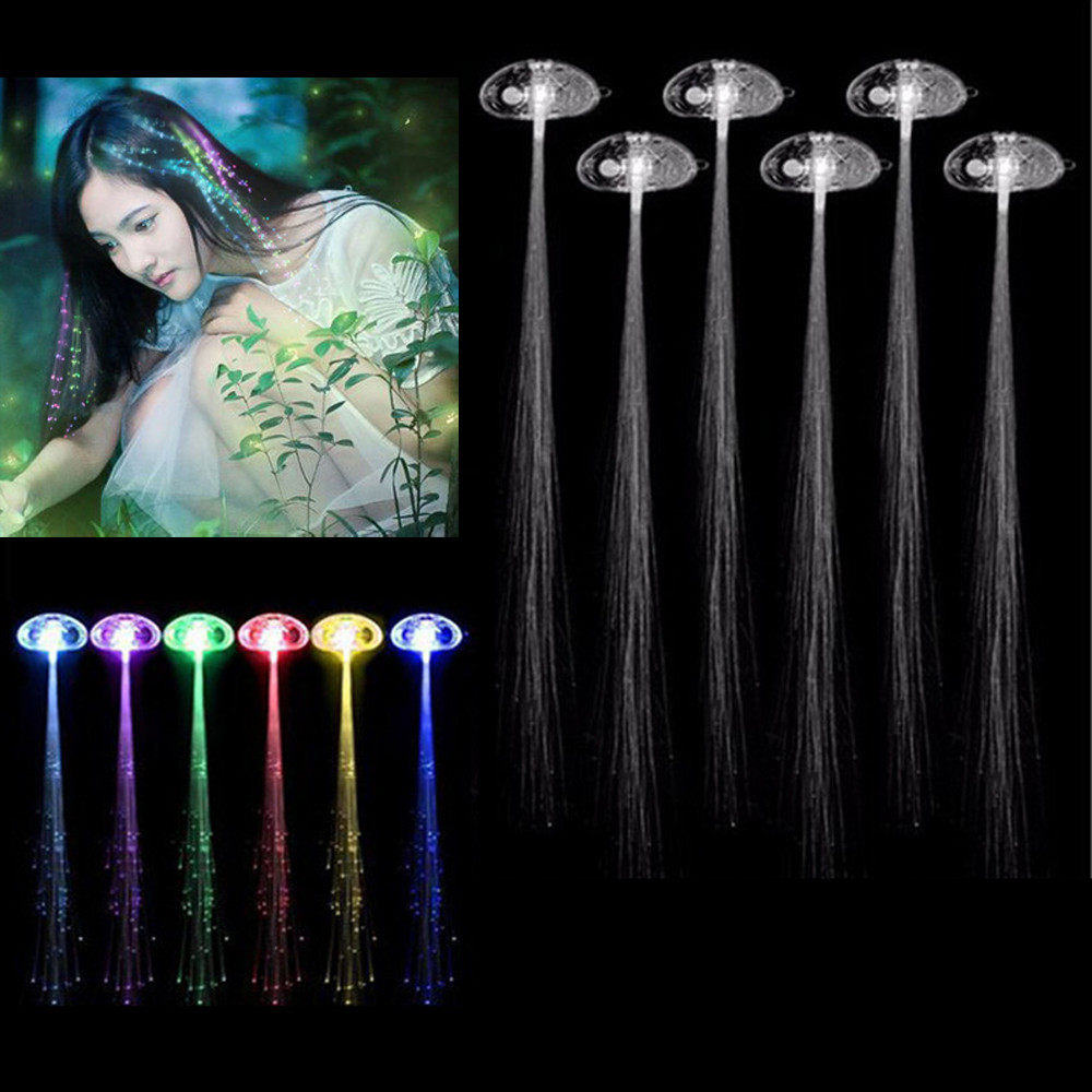 6pcs Led Wigs Glowing Flash Ligth Hair Braid Clip Hairpin Christmas Birthday Toy Dropship #k20 Latest Technology