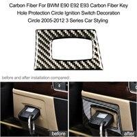 Carbon Fiber For BWM E90 E92 E93 Carbon Fiber Key Hole Protection Circle Ignition Switch Decoration