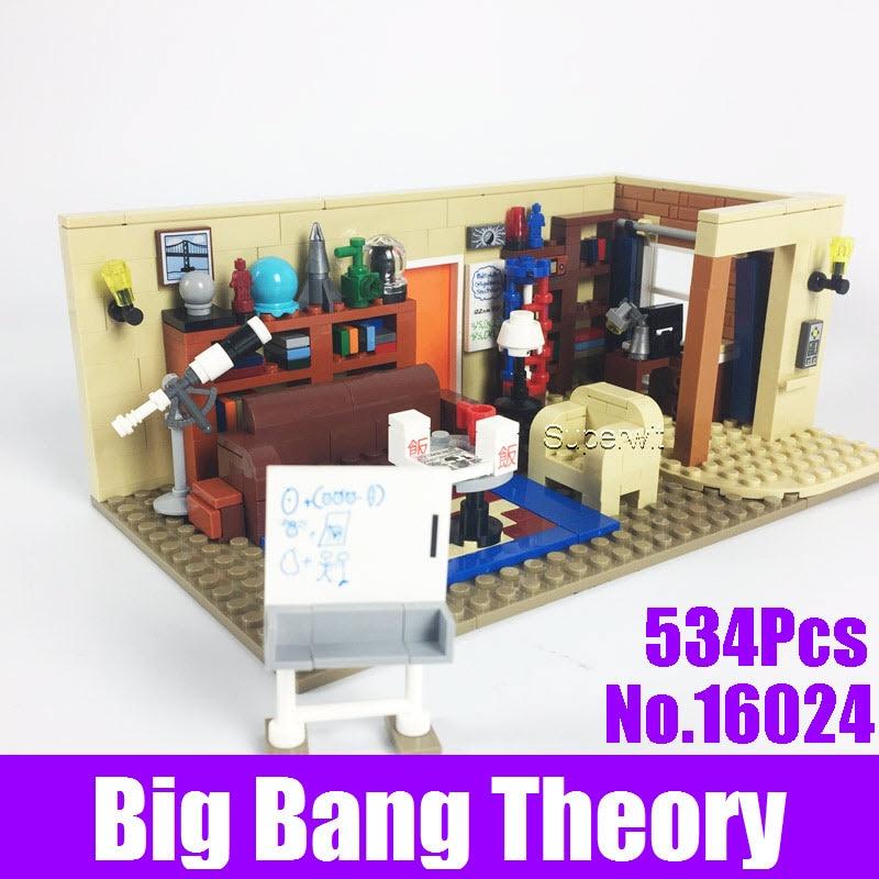 цена 2017 New LEPIN 16024 534Pcs IDEAS Series The Big Bang Set Educational Building Blocks Bricks Compatible 21302 Children DIY Toys онлайн в 2017 году
