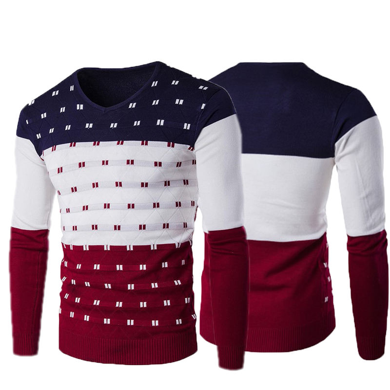 2019 Autumn Winter New Casual Sweater Men Pattern Knitted Pullovers Fashion Slim Fit Christmas Gift Male Sweater