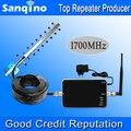 Sanqino AWS Усилитель FDD 4 Г LTE Band 4 Сотовый Телефон AWS 1700 МГЦ Усилитель Сигнала сигнал Повторителя Яги Антенна Набор Горячая продать