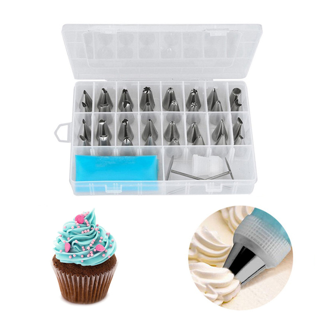 Hoomall 8 IN 1 set Silicone Icing Piping Crema Pasticcera Bag 6 pz Ugello In Acc
