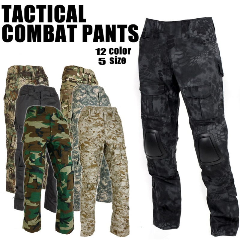 Gen2 Airsoft BDU Uniform Tactical Combat Pants With Knee Pads Men Camouflage Trousers Army Gear Military Hunting Pants