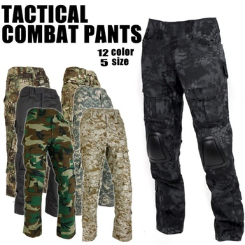 цены Gen2 Airsoft BDU Uniform Tactical Combat Pants With Knee Pads Men Camouflage Trousers Army Gear Military Hunting Pants