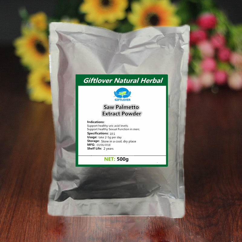 500g 100% Pure Saw Palmetto Extract Powder with Fatty acids,Serenoa Repens,male's friend for man,high quality free shipping 1000g 100% natural fruit powder strawberry juice powder strawberry extract beverage powder skin protection with best price