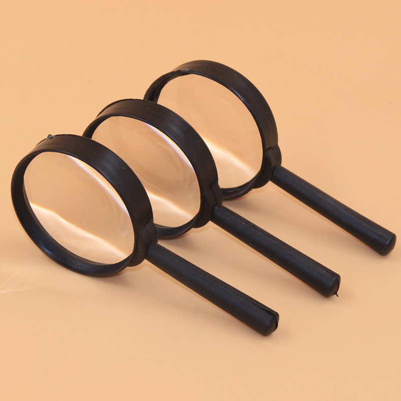 2 Pcs/set 5X Magnifier For Reading Tool Hand Held Magnifying Glass For Reading Identification Etc Glass Lens Reading Glasses