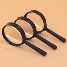 2 sztuk zestaw 5X lupa do czytania narzędzie ręczne szkło powiększające do czytania identyfikacja itp szklane soczewki do czytania tanie tanio FGHGF Handheld magnifier Brak ZG3231 12 5*6CM 60mm Five times Plastic Hand-held magnifying glass