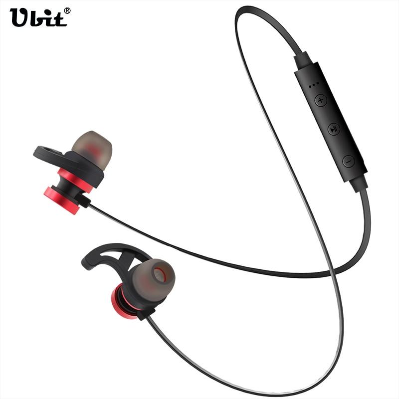 Ubit BT-13 Sport Running Earphone Headset Wireless Bluetooth Stereo Metal Magnetic Headphones HIFI Bass Earbuds With Mic PK T11