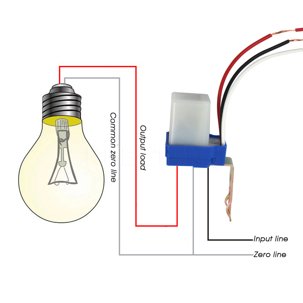 Automatic Auto On Off Photocell street Light Switch DC AC 220V 50 60Hz 10A Photo Control automatic auto on off photocell street light switch dc ac 220v 50 220v photocell wiring diagram at n-0.co