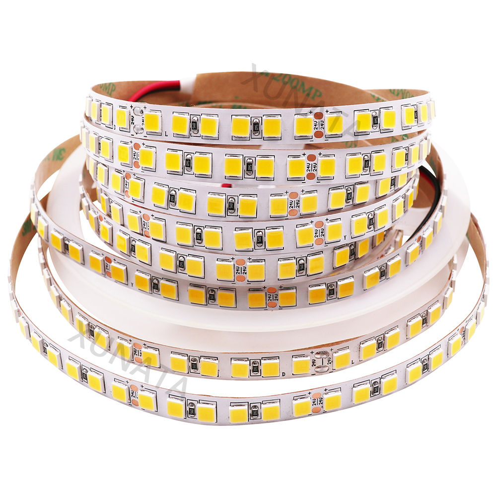 5 m SMD 5054 LED Bande DC 12 v 24 v Flexible Étanche 600 led 120 led/m plus lumineux que 5050 bandes LED blanc Froid/blanc chaud