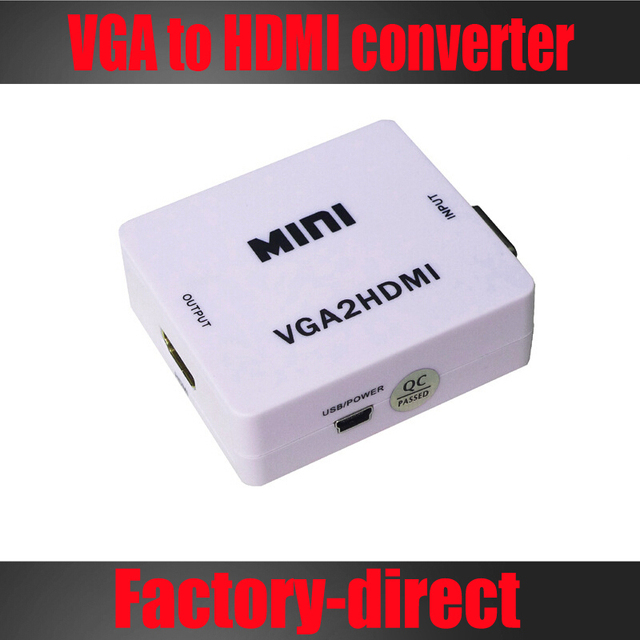 VGA to HDMI converter with audio PC VGA to HDTV converter adapter for pc laptop