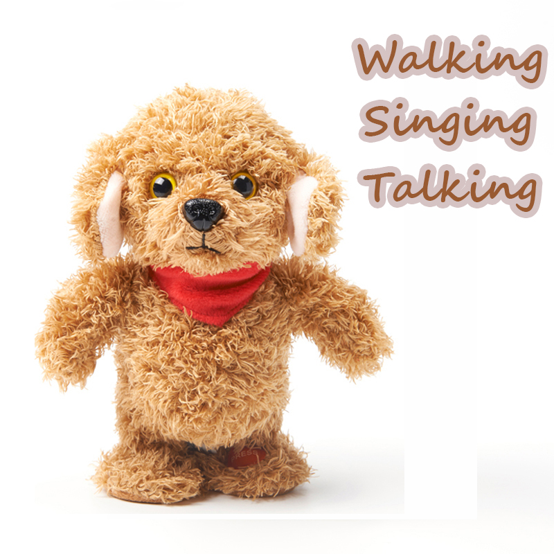 Cute Soft Electric Walking/Singing/Talking Teddy Bear Plush Electronic Pets Toys For Children Kids Doll Baby love Birthday Gift