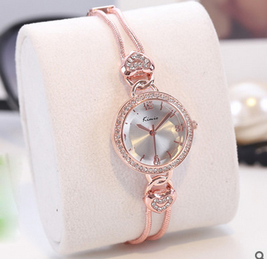 KIMIO Love Heart Bracelet Ladies Watches Chain Wristwatch Fashion Women Watches Casual Gold Quartz Watch Relogio Women's Clock