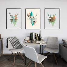 цены 3Pcs/Lot Antlers Colorful Abstract Fashion Wall Art Canvas Painting Nordic Posters Prints Wall Pictures For Living Room Decor
