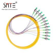 12 çekirdekli pigtail fiber optik yama kablosu 0.9mm 1 metre FC-APC