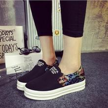 Spring and autumn New 2015 fashion women shoes women canvas flat slip on fashion Bost shoes comfortable  wedges platform Loafers