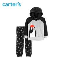 Carter's 2-Piece Penguin Fleece Hoodie & Jogger Set Fleece Long sleeve hooded pullover cotton boys clothes set 249G799
