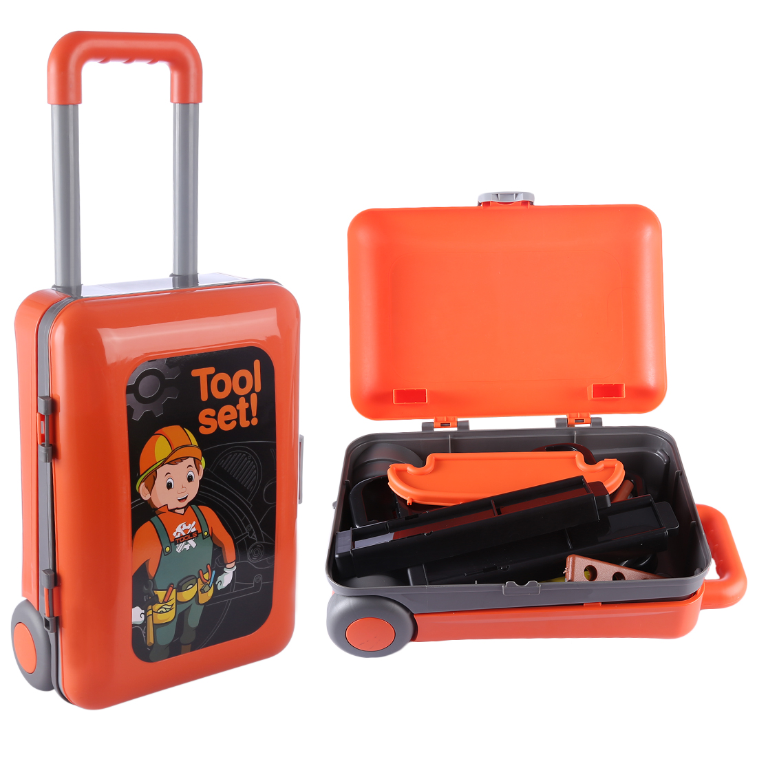 Surwish enfants réparation outil jouets ensemble ABS atelier Playset enfants Parents interactif éducatif cadeau jouet-Orange
