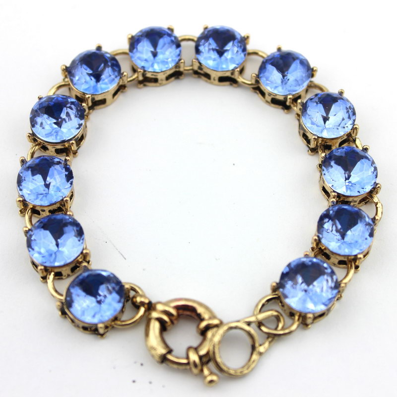 Classic Fashion Designer Inspired Stylish Colorful Crystal Dot Bracelet Vintage Design Spring
