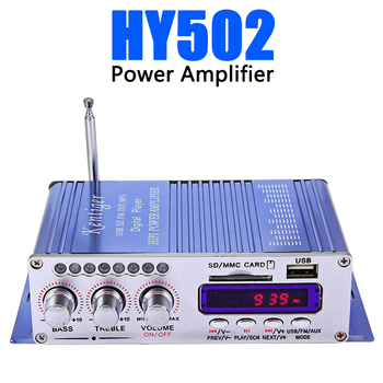 Hi-Fi HY502 Audio power amplifier USB MP3 DVD CD FM SD Digital Player for Motorcycle Auto Stereo Power Amplifier DHL Free 12v mini car amplifier motorcycle home boat auto stereo audio amplifier 2 channel digital hi fi amp support cd dvd mp3 speaker