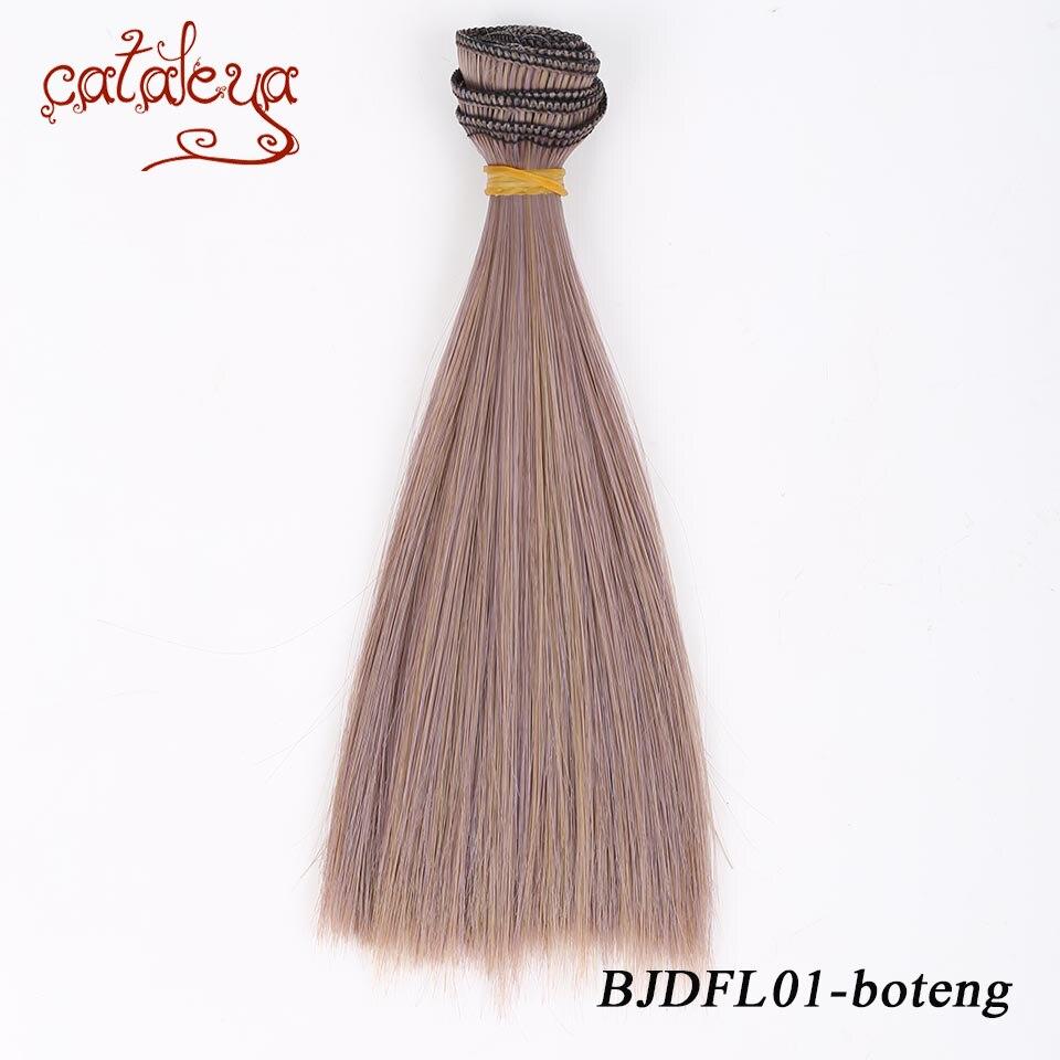 Cataleya perruque de poupée droite 15*100 cm et 25*100 cm pour 1/3 1/4 1/6 BJD bricolage refeux BJD cheveux noir or brun couleur blanche