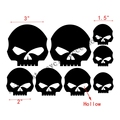 Free shipping Motorcycle Skull head Free Decal Sticker FOR Black red white