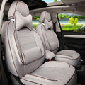 Car covers custom fit para honda cr-v 2015/2016 asiento de coche cubierta de Lino Asiento Cubiertas y Ayudas de Automóviles Asientos de Coche Negro bolsas de aire
