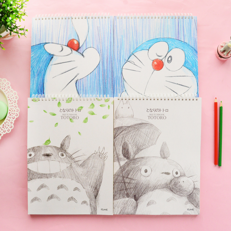 Special Offer YOOFUN Chinchilla A4 Sketchbook Blank Inside Pages Sketchbook Drawing Painting 1PCS yoofun van gogh painting series sketchbook a4 blank sketch books drawing sketch coil spiral 1pcs