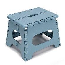 아이들을위한 슈퍼 강한 접이식 스텝 스툴 9 인치 경량 플라스틱 디자인 가정용 주방, 욕실, 침실 용 스테핑 의자