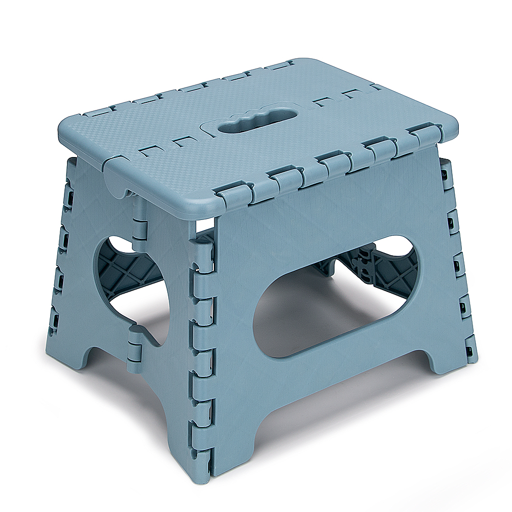 Super Strong Foldable Step Stool For Kids 9 Inches Lightweight Plastic Design Stepping Stool For Home Kitchen, Bathroom, Bedroom