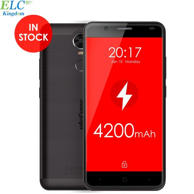 Original Ulefone Tiger 4G Smartphone Android 6.0 MTK6737 Quad Core 5 inch 1280x720 2GB RAM 16GB ROM 4200mAh OTG Fingerprint ID