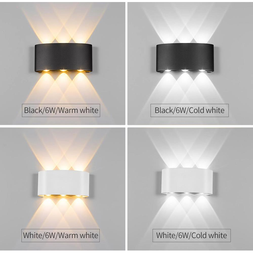 Modern Led Wall Lamp 2W 4W 6W Wall Sconces Indoor Stair Light Fixture Bedside Loft Living Room Up Down  Home Hallway Lampada 2