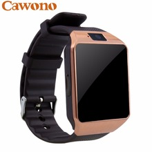 Cawono Gold DZ09 Bluetooth Smart Watch with Camera Phone Call Smartwatch for iPhone Xiaomi Samsung HUAWEI Smartphones PK A1 GT08